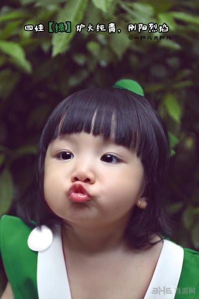 3岁萌娃超可爱葫芦娃cosplay