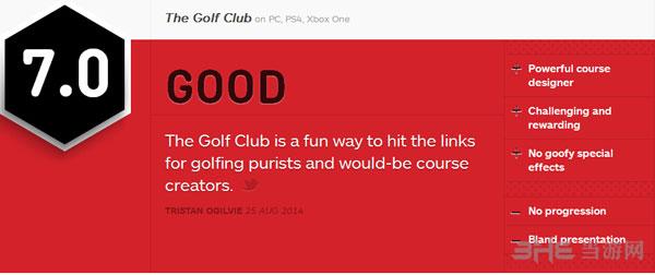 高尔夫俱乐部获IGN7.0好评1