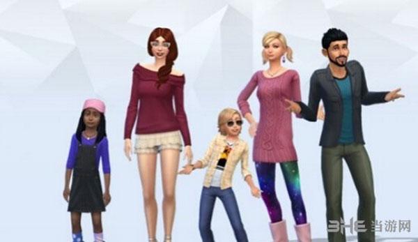 模拟人生4大人小孩形象