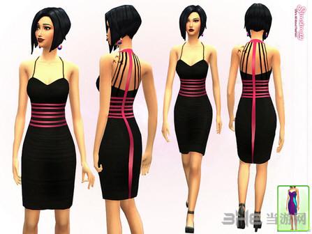 模拟人生4女性气质连衣裙