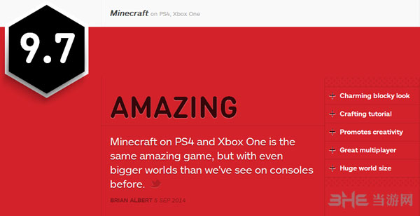 我的世界IGN评分