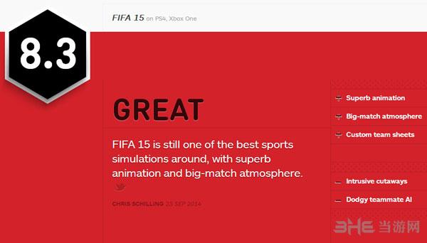 FIFA15获IGN8.3好评