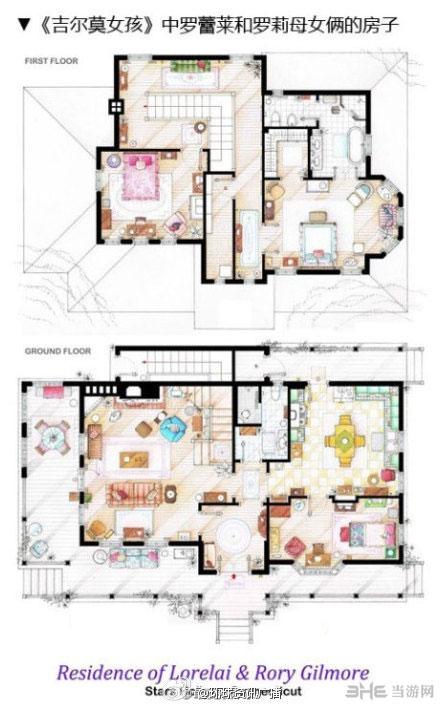 部经典美剧房屋平面图设计图,包括欲望都市中凯莉布莱德肖所住的房子图片