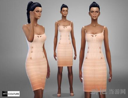 模拟人生4女性吊带气质连衣裙