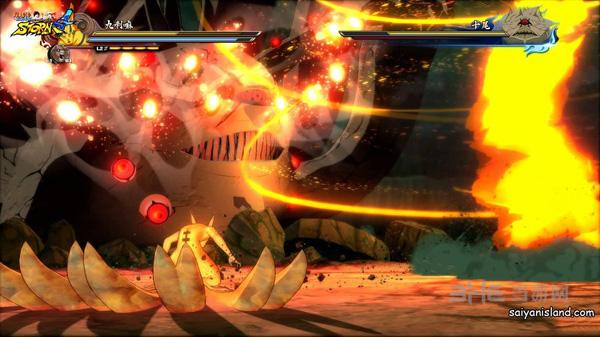 今日,万代南宫梦公布了火影忍者究极忍者风暴4的全新截图,向玩家们展示了鸣人的新终极忍术,画面看起来相当酷炫。截图展示的是鸣人和九喇嘛一起对抗十尾的boss战。 今日,万代南宫梦公布了火影忍者究极忍者风暴4的全新截图,向玩家们展示了鸣人的新终极忍术,画面看起来相当酷炫。截图展示的是鸣人和九喇嘛一起对抗十尾的boss战。当在战斗中你对十尾造成足够的伤害后,他就会开始追逐鸣人和九喇嘛,玩家此时必须奋力逃跑,最后将施放忍者联合军结束战斗。 火影忍者究极忍者风暴4日版将于2016年年2月4日登陆PS4平台,繁体中文
