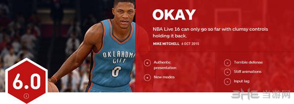 NBA Live 16 IGN评分