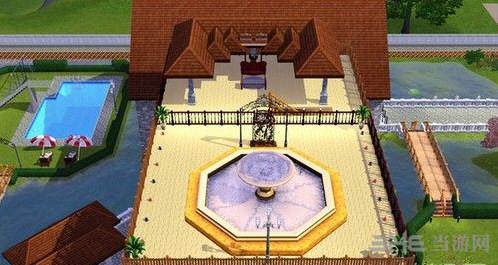 模拟人生3欧式荷塘风格豪宅mod
