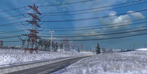 欧洲卡车模拟2雪地mod截图0