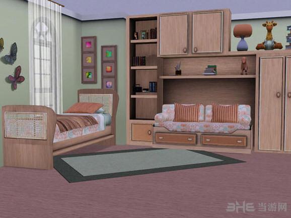模拟人生3年代感单人卧室MOD截图0