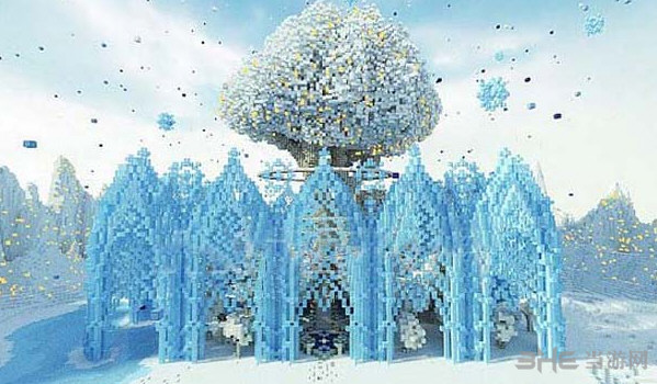 我的世界冰雪花园地图存档截图0