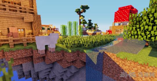 我的世界破碎的世界空岛生存地图存档截图0