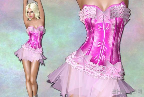 模拟人生3蕾丝芭蕾舞裙MOD截图0