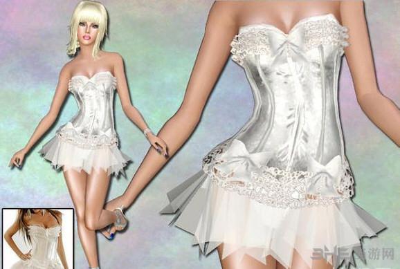 模拟人生3蕾丝芭蕾舞裙MOD截图1
