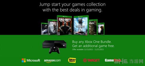 Xbox One送游戏活动宣传图