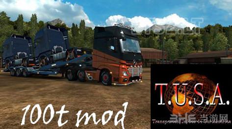 欧洲卡车模拟2斯堪尼亚100吨拖车MOD截图0