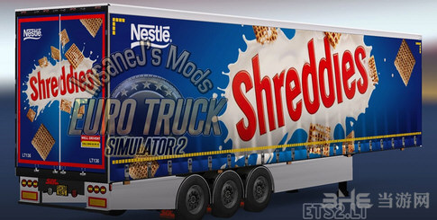 欧洲卡车模拟2雀巢拖车包截图0