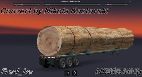 欧洲卡车模拟2猴面包树拖车MOD截图1