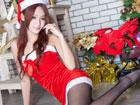 美女Winnie圣诞性感写真 俏皮可爱又不失性感