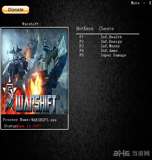 WARSHIFT五项修改器截图0