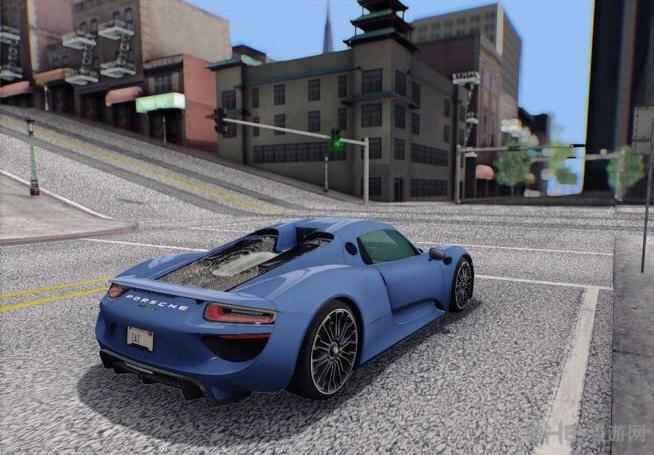 侠盗猎车手圣安地列斯保时捷918 Spyder超级跑车MOD截图0