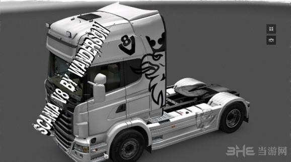 欧洲卡车模拟2斯堪尼亚V8皮肤MOD截图0