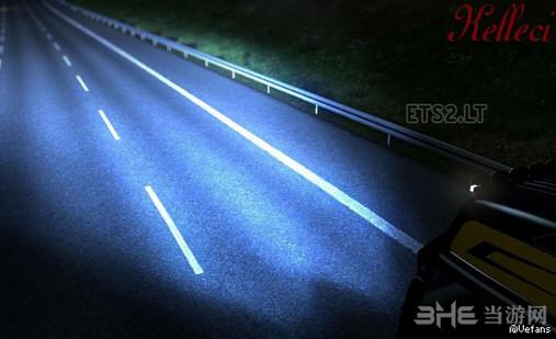 欧洲卡车模拟2蓝色极光氙气灯MOD截图0