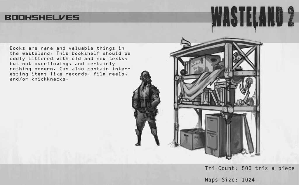 废土2高清设定原画图欣赏 黑白的末日世界