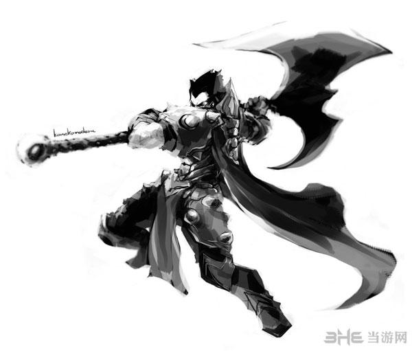 欢迎前来淘宝网实力旺铺,选购英雄联盟素材人物原画设计黑白高清