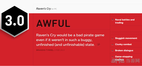 乌鸦的悲鸣IGN评分