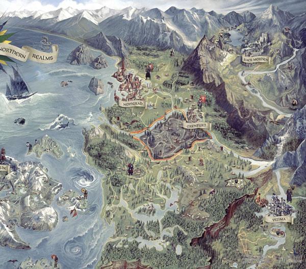 巫师3狂猎最新地图及截图放出 全场景一览无余