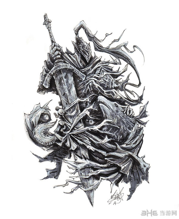 黑暗之魂手绘艺术设定图放出 精致画面令人着迷
