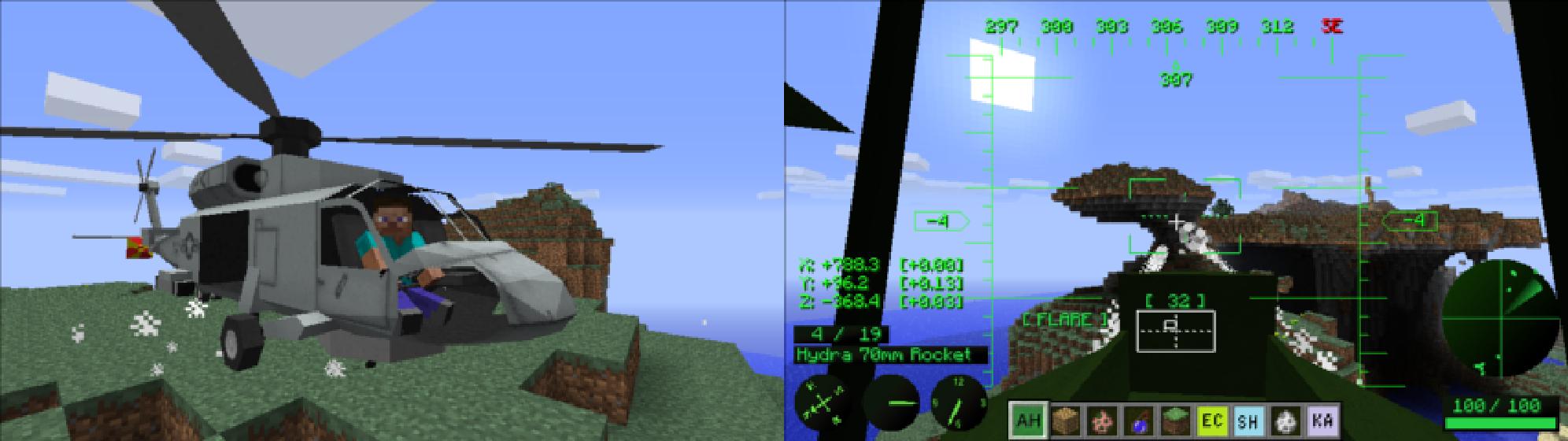 我的世界直升机mod|我的世界1.7