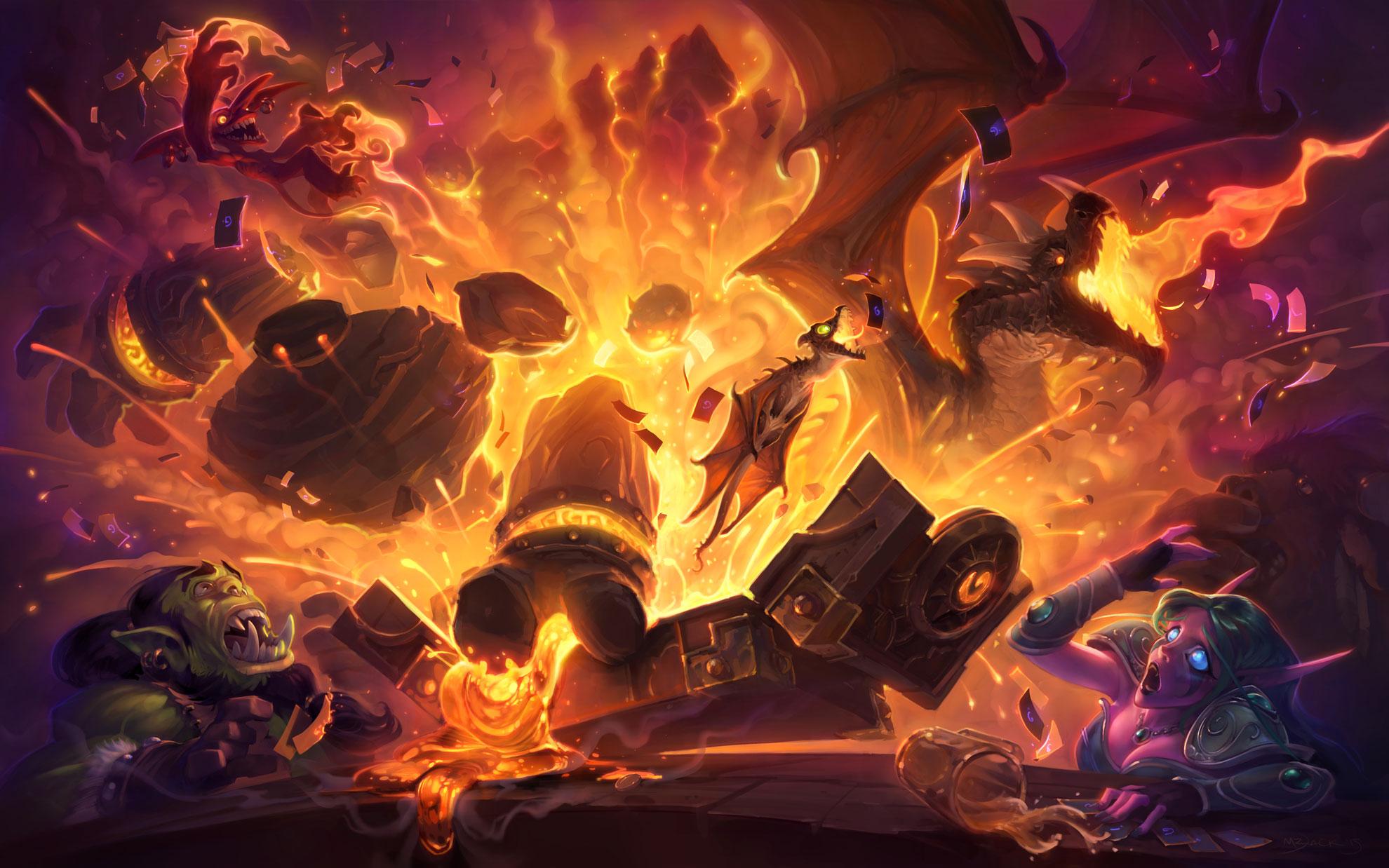 炉石传说黑石山的火焰高清精美原图欣赏 欧