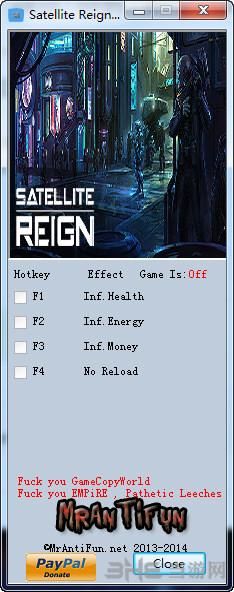 卫星统治四项修改器截图1