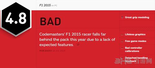 F1 2015 ign简评
