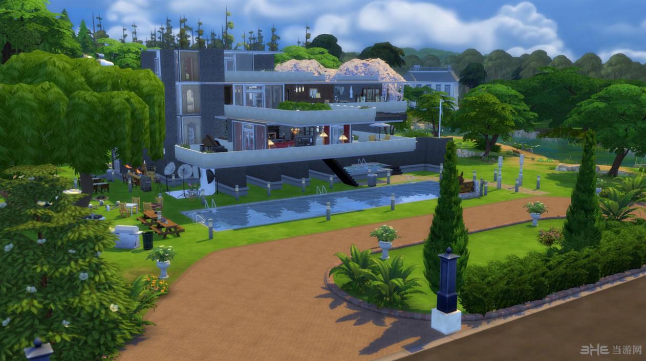模拟人生4流水别墅mod