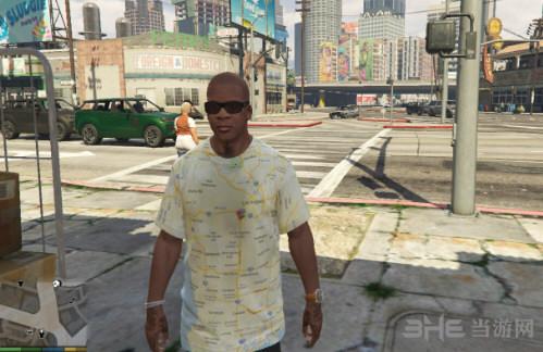 侠盗猎车手5富兰克林洛杉矶地图T恤MOD截图0