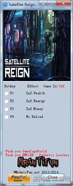 卫星统治四项修改器截图0