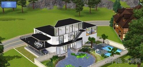 模拟人生3黑白风格的别墅MOD截图1