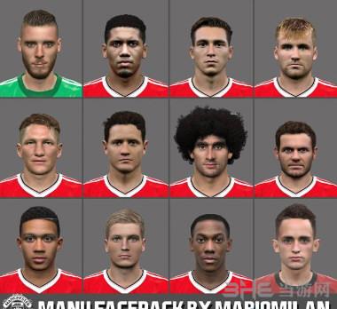 实况足球2016红魔曼联12人脸型包截图0