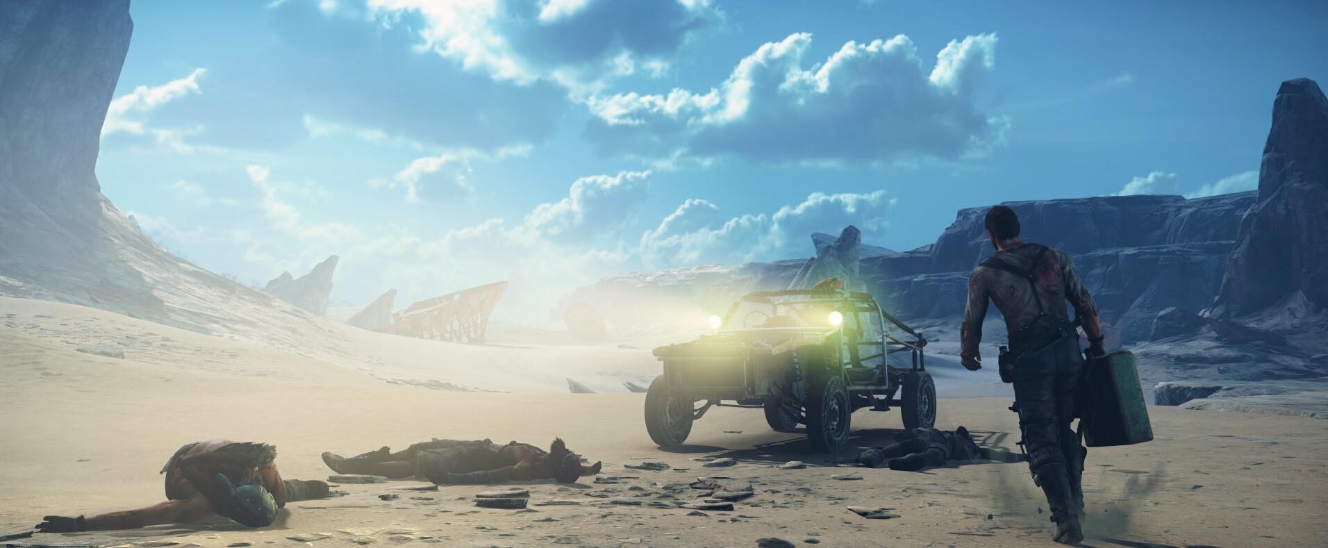疯狂的麦克斯震撼游戏截图 广袤的黄沙世界