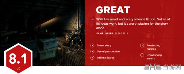 恐怖游戏SOMA IGN评分