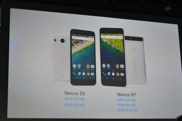 Nexus 6P/5X手机售价