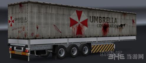 欧洲卡车模拟2保护伞公司拖车MOD截图0