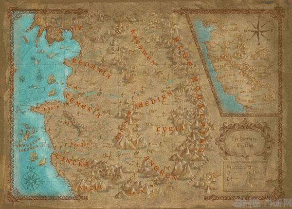 《巫师3:狂猎》游戏地图和真实波兰地图毫无违和感