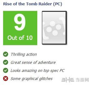 古墓丽影崛起PC版媒体评分3