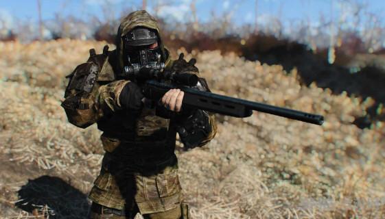 辐射4铁路装甲大衣MOD截图1