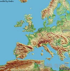 欧洲卡车模拟2彩色欧洲地图MOD截图0
