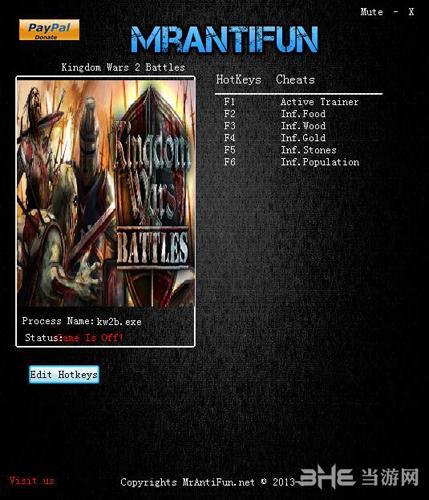 幻想黎明:王国战争五项修改器截图0