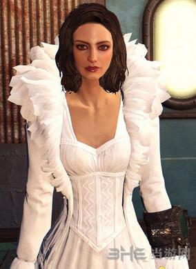 辐射4性感白色蕾丝材质浪漫婚纱MOD截图0